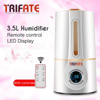 Humidifier White Ultrasonic Timing Water Shortage LED Display Temperature and Humidity Display Remote Control Humidifier