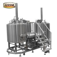 Stainless Steel Micro Brewing Equipment , Direct Fired 30 BBL Brewhouse For Hotel / Bar Manufactures