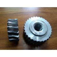 Customized Precision forged metal worm Gear Hobbing Services support  zinc plated Manufactures