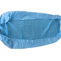 China Clinic Disposable Surgical Drapes Blue Bed Covers With Elastic Fitted Bed Sheets on sale