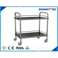 China BM-E3013 Medical Hospital Furniture Stainless Steel 2-layers Surgical Instrument Trolley on sale