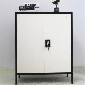 Black White SGS 800X400X1015mm KD Steel Bedside Cabinet Manufactures