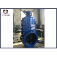 Double Flanged Resilient Seated Gate Valve Gearbox Operated DN600 For Fire Protection