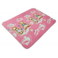 China Cute Rabbit Polyester Baby Blanket , Baby Fleece Blanket Portable on sale