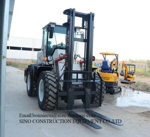 Off Road Rough Terrain 3000kg 30mm Diesel Forklift Truck Manufactures