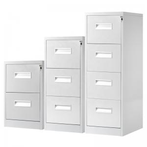 Vertical Lockable Grey 133.2cm 4 Drawer Metal Filing Cabinet Manufactures