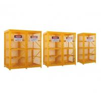 Gas Cylinder Storage Cabinets powder coated for USA , Europe safety storage Manufactures