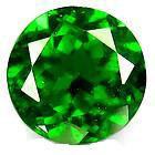 Green Round Natural Chrome Diopside Gemstone For Jewelry 1.25mm Manufactures