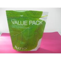 Recycled Laminated Green Stand Up Pouch Bag Ziplock for Facial Cream Manufactures