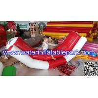 Water Sport Toys Inflatable Water Seesaw / Kids Seesaw Pool Float in Red and White Manufactures