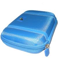 EVA Blue Hard Disk Pouch Covered Knitted Fabric Portable With Zipper Manufactures