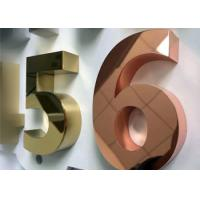 3D built up mirror face stainless steel Dimensional Letter Signs with gold color Manufactures
