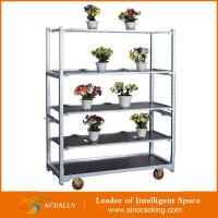 Customized 4 Wheel Flower Cart Trolley with Wooden Panel Manufactures