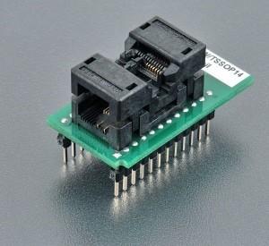 Original ELNEC SOCKET  70-0712  DIL14W/TSSOP14 ZIF 170mil , ZIF TSSOP14, OpenTop type Bottom2x12 pins, square, 0.6x0.6m Manufactures