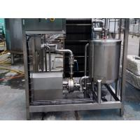 10TPH Beverage Plate Type Sterilizer SUS304 Heat Exchanger With Hot / Chilled Water Manufactures