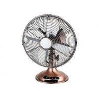 45W 3 Speed Personal Electric Fan , Air Cooling Oil Rubbed Bronze Antique Desk Fans