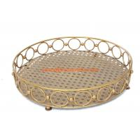 hot sell  fashion design round metal fruit tray for home ,hotel,restaurant decoration Manufactures