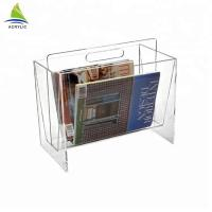 Customized Acrylic Postcard Holder Acrylic Magazine Newspaper Rack Eco - Friendly Manufactures