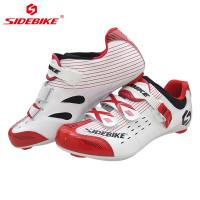 Magic Velcro Strap Road Cycling Shoes / Nylon Durability Bike Bicycle Riding Shoes Manufactures