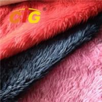 Tricot Plain Colorful Fake Fur Fabric 100% Polyester Width 150cm To 160cm Manufactures