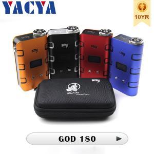 Authentic 510  Electronic Cigarette SMY God180 Box Mod Huge vapor Manufactures