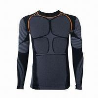 Seamless Men's Undershirts, Made of Polyamide/Polyester/Spandex, Available in Various Colors Manufactures