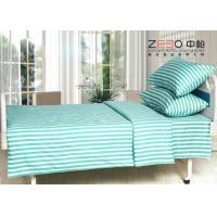 Different Color Striped Fitted Bed Sheets , Cotton Flat Sheets BS-10 Manufactures