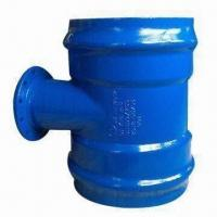 PVC pipe-double socket tee with flanged branch Manufactures