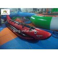 Red Shark Inflatable Banana Boats With 6 Handle For Adult Commercial Manufactures
