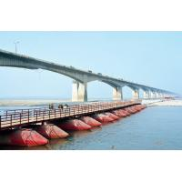 Bailey Panel Pontoon Floating Bridge Structural Steel with Bridge Decking Sit on Barges Boats Manufactures