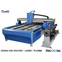 Blue CNC Plasma Metal Cutting Machine / Industrial Plasma Cutter With Rotary Axis Manufactures
