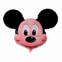 Buy cheap Mickey Mouse Mylar Balloons, Can be Filled with Helium or Hydrogen from wholesalers