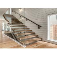 Buy cheap Indoor Floating Steps Staircase Led Stairs With Wood Tread , Customize Size from wholesalers