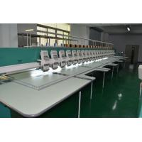 24 Head Garment / Curtain High speed Embroidery Machines 9 needle 1200RPM Manufactures