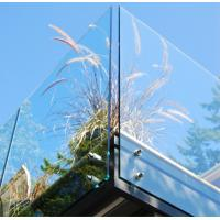 Balustrade  Balcony Tempered Glass Panel Easy Cleaning 12mm Safety Manufactures