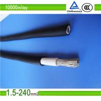 tuv uv resistant mc4 pv solar cable/ 4mm2 solar cable/pv1-f 6mm2 solar cable Manufactures