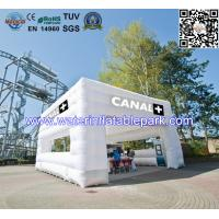 Modern White Cube Inflatable Booth Tent For Garden Party And Event Manufactures