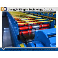 Colored Steel Trapezoidal Decking Tile Making Machine With Hydraulic Post Cutting Manufactures
