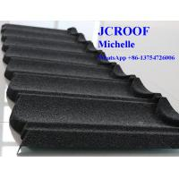 Colorful Stone Coated Metal Roofing Tiles Alu -Zinc Steel Sheet  ISO9001 Standard