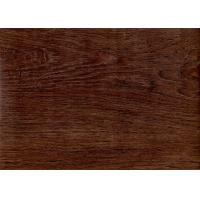China Dark Wood Grain PVC Vinyl Flooring 5mm For Office / Shopping Mall Eco - Friendly on sale