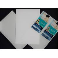 A3 size 0.17mm digital printable plastic sheets pvc card material white indigo Manufactures