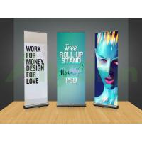 Casting Free Standing Banner Frame , Horizontal Banner Stands Retractable Manufactures