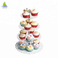 Best Quality Square Dessert Cupcake Tower Modern Acrylic plastic cake stand Manufactures
