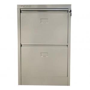 Waterproof 728mm Vertical 2 Drawer Locking File Cabinet Manufactures