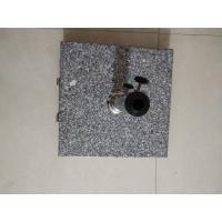 Hand Carry Square Natural Granite Parasol Base, Sun Umbrella Wheel Stone Base Manufactures
