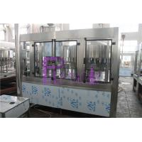 Cheap PLC Control 3 In 1 Water Filling Machine SUS304 With Screw Cap for sale