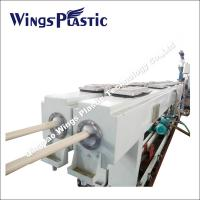Plastic PVC Electric Threading Pipe Making Machine / Extrusion Line Manufactures