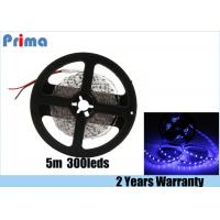 China Blue LED Strip Lights 36W Power 12 Voltage 5M Length 300 SMD 5630 LEDs on sale