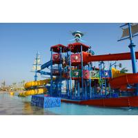 China Holiday Resorts Water Playground Equipment Hot Dip Galvanizing Steel Structure on sale