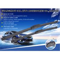 Universal Hook Black 12 - 26 Inch Flat Wiper Blades with Teflon coated natural rubber refill Manufactures